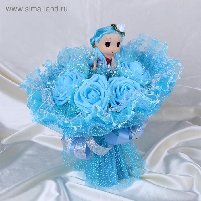 "Букет из игрушек ""Куколка"" голубой"
