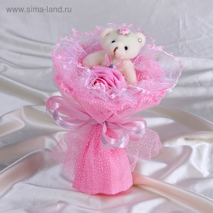 """Букет из игрушек """"Принцесса"""" розовый"""