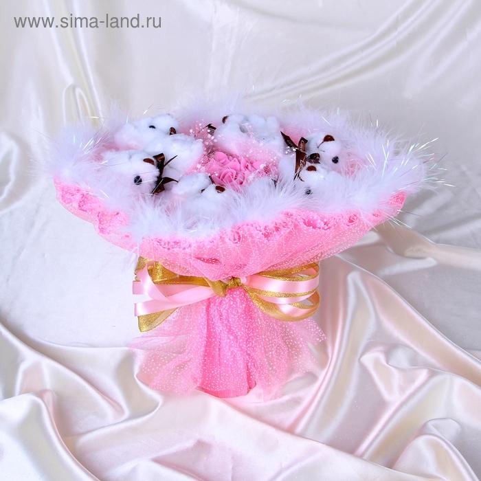 """Букет из игрушек """"Romantique"""" розовый"""
