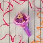 """Букет из игрушек """"Кокетка"""" фиолетовый"""