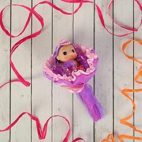Букет из игрушек 'Кокетка' фиолетовый Ош