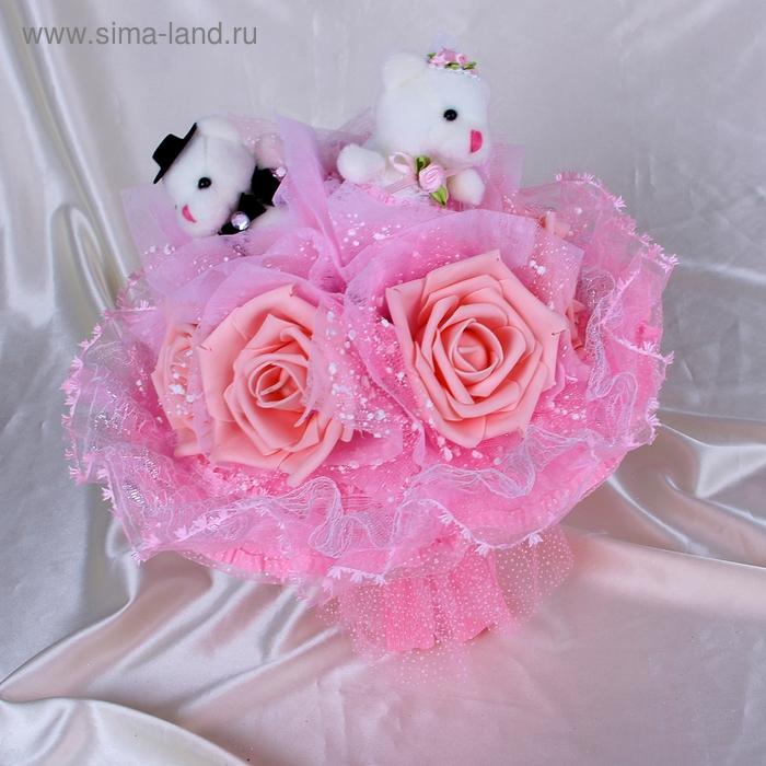 """Свадебный букет из игрушек """"Горько"""" розовый"""