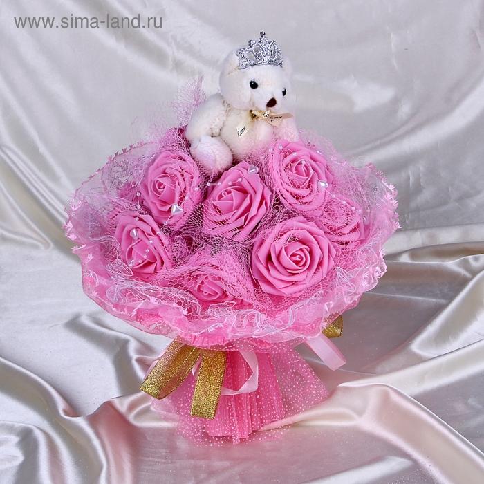 """Букет из игрушек """"Ля мур"""" розовый"""