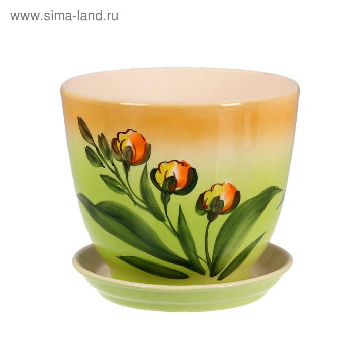 """Кашпо """"Кедр"""" орхидея, 2,2 л"""