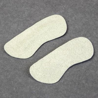 Пяткоудерживатели для обуви замшевые, 2шт, цвет серый