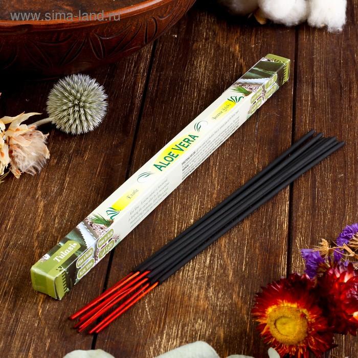 Благовония четырехгранник Sarathi Aloe Vera Алое Вера 8 палочек в упаковке