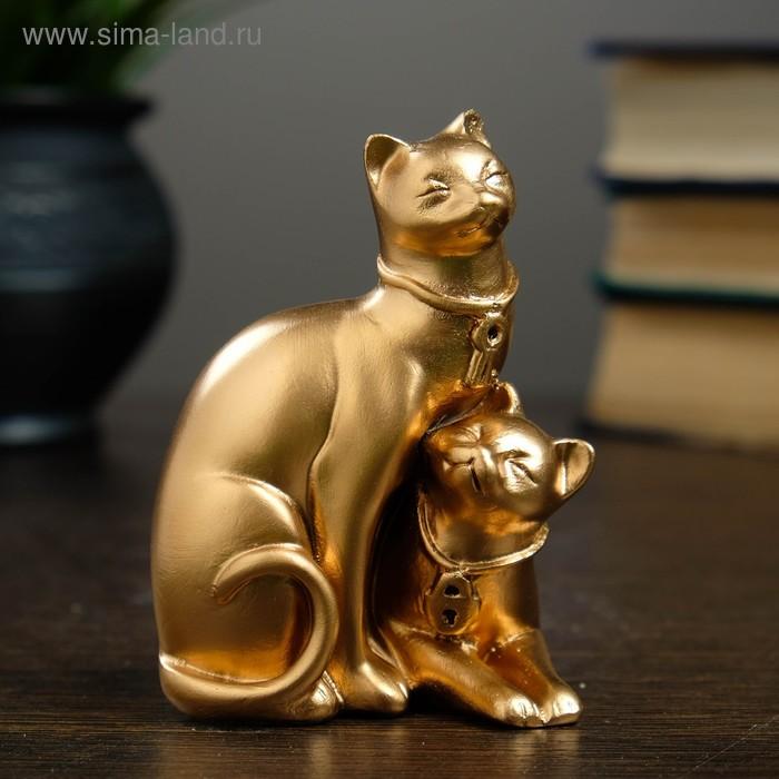 "Статуэтка ""Коты"" ключик и замочек, бронза"