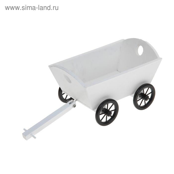 """Кашпо """"Повозка"""" белое"""