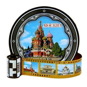 """Магнит в форме фотопленки """"Москва"""""""