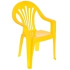 Детский стульчик, высота до сиденья 27,5 см, цвет жёлтый