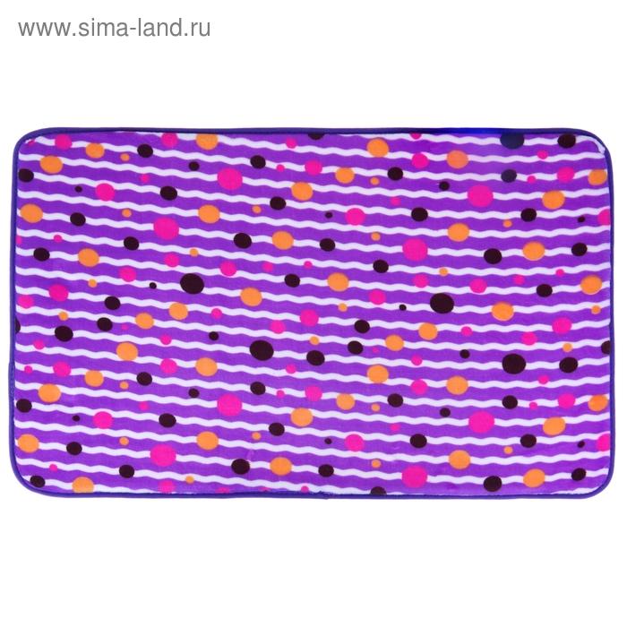 """Коврик для ванной 40х60 см """"Полоска"""", цвет МИКС"""