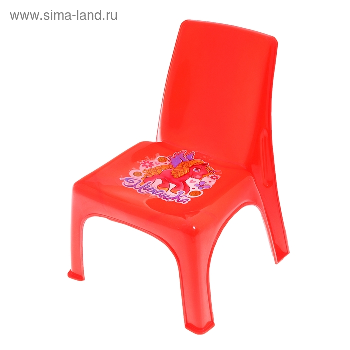 Детский стульчик «Милашка», высота до сиденья 16 см, цвета МИКС
