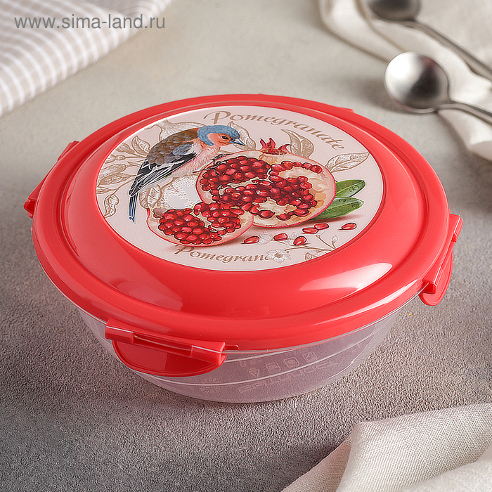 Контейнер пищевой 580 мл круглый Click&lock, цвет МИКС