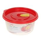 Контейнер пищевой 440 мл круглый Air free, цвет красный
