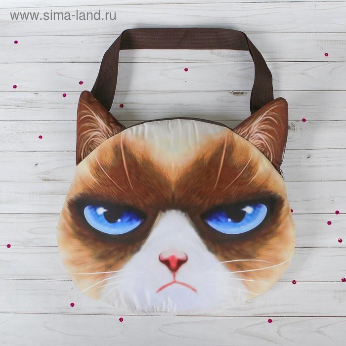"""Мягкая сумка """"Кошак, голубые глаза"""""""