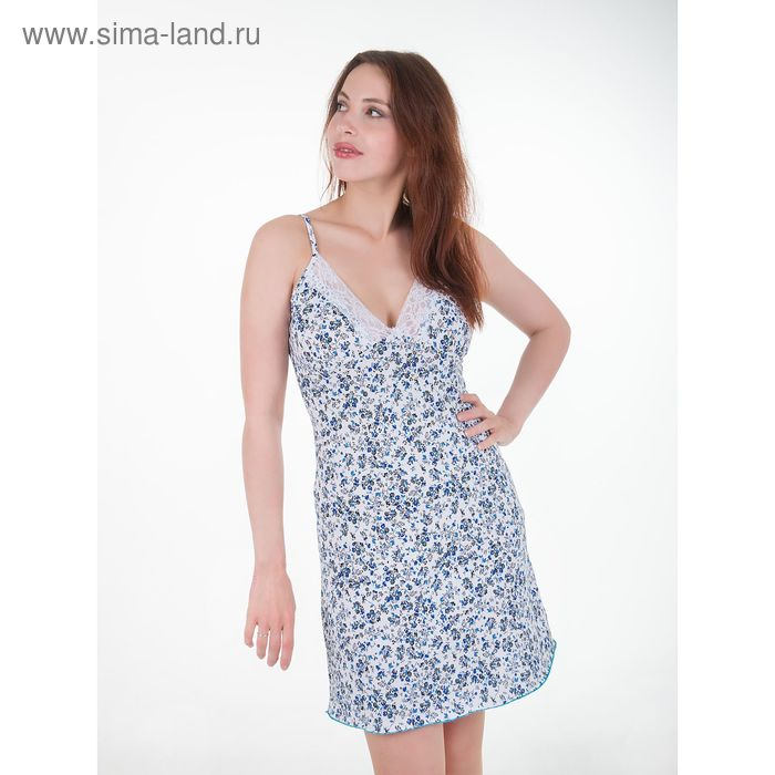 Сорочка женская Майя бело-голубой, р-р 52
