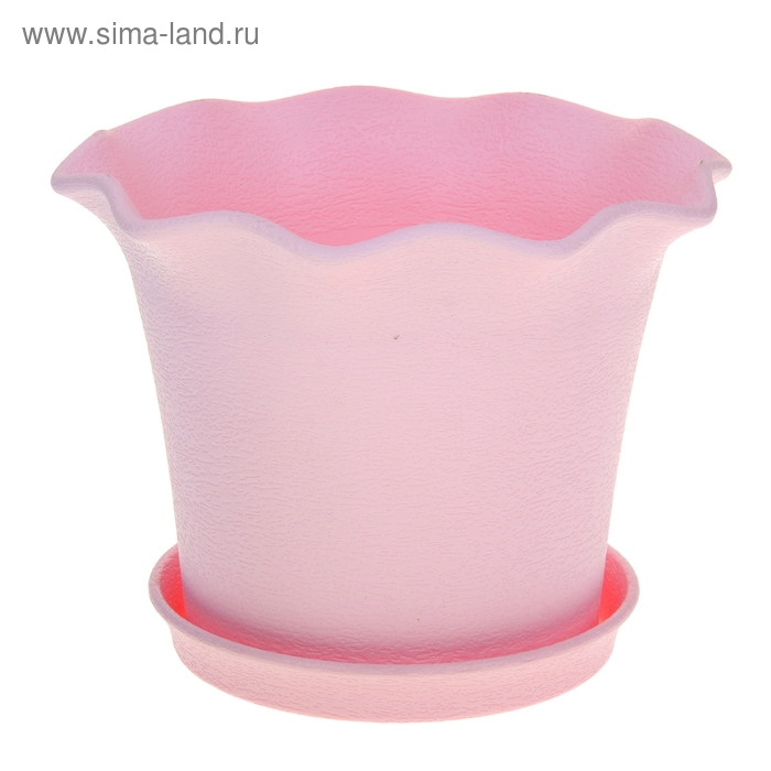 Горшок для цветов с поддоном 8 л Le Fleurе, d=36 см, цвет розовый