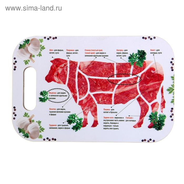 """Доска  прямоугольная """"Мясо"""""""