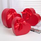 """Набор коробок 3в1 """"Питон"""", цвет красный, 24 х 20 х 9,5 - 19 х 15 х 7 см"""