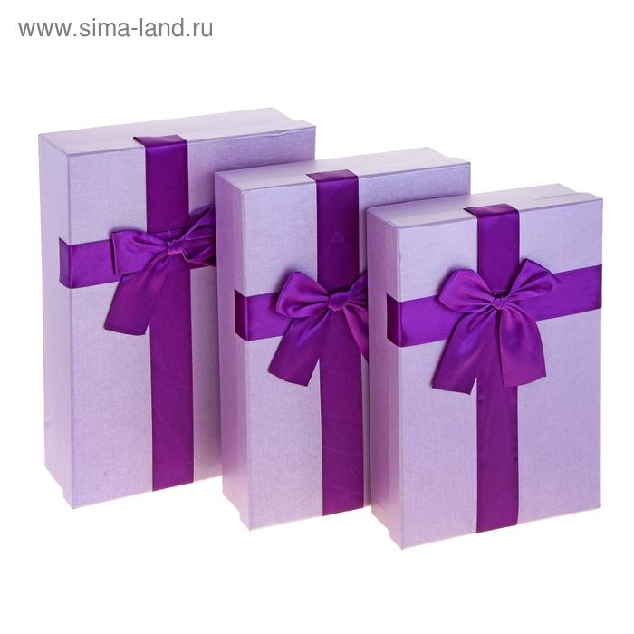 "Набор коробок 3в1 ""Геометрия"", цвет сиреневый"
