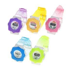 Часы наручные электронные «Лепестки», детские, с силиконовым ремешком, микс Ош
