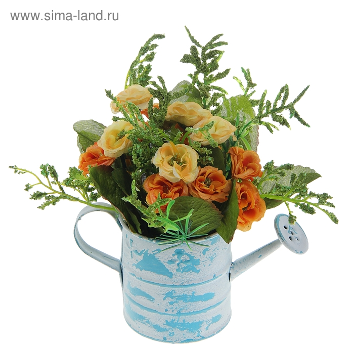 """Композиция в садовой лейке """"Розы"""" (микс)"""