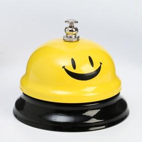 """Звонок настольный """"Смайлик"""", средний, жёлто-чёрный"""