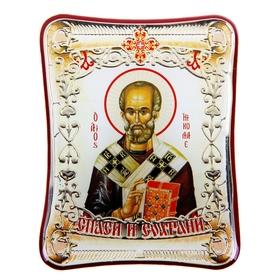 """Икона в авто """"Святитель Николай Чудотворец"""" с клеящейся основой"""