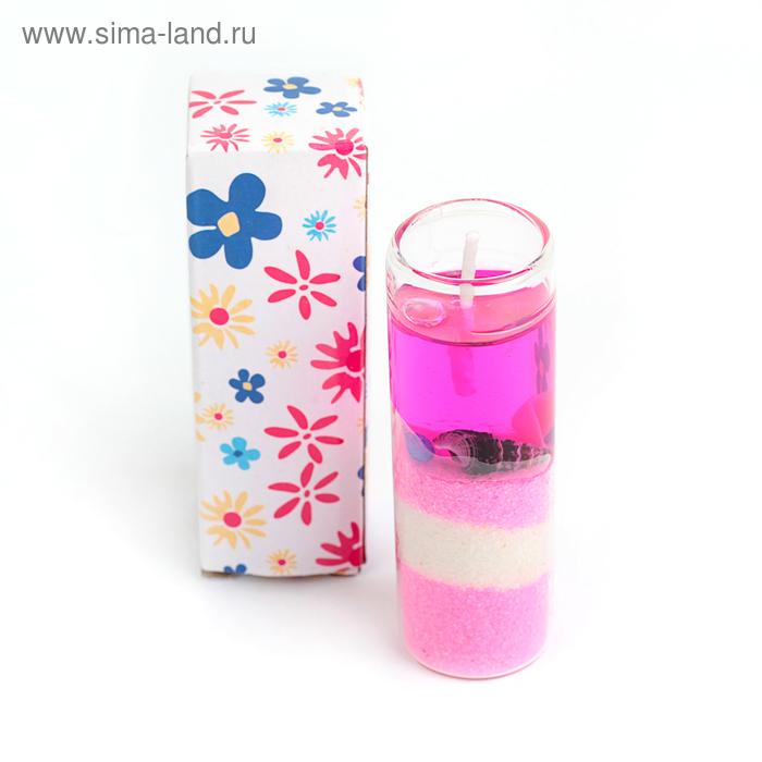 """Свеча гелевая """"Морской берег"""", цвет розовый"""