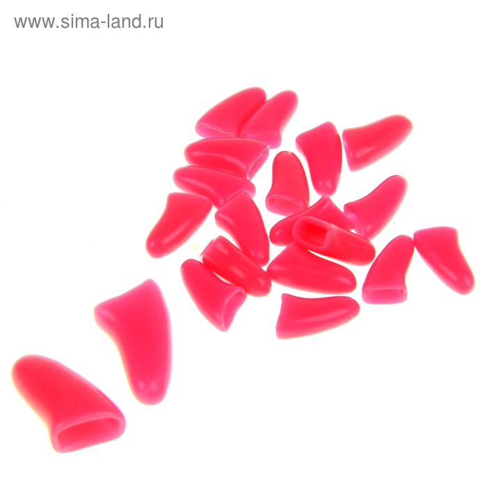 Накладные когти для собак, набор 20 шт, размер L, светло-розовые