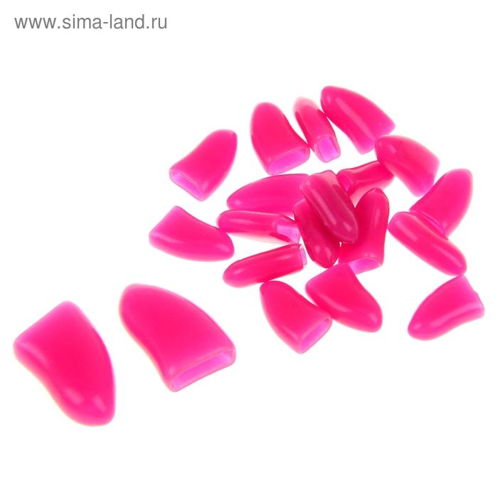 Накладные когти для собак, набор 20 шт, размер XL, темно-розовые