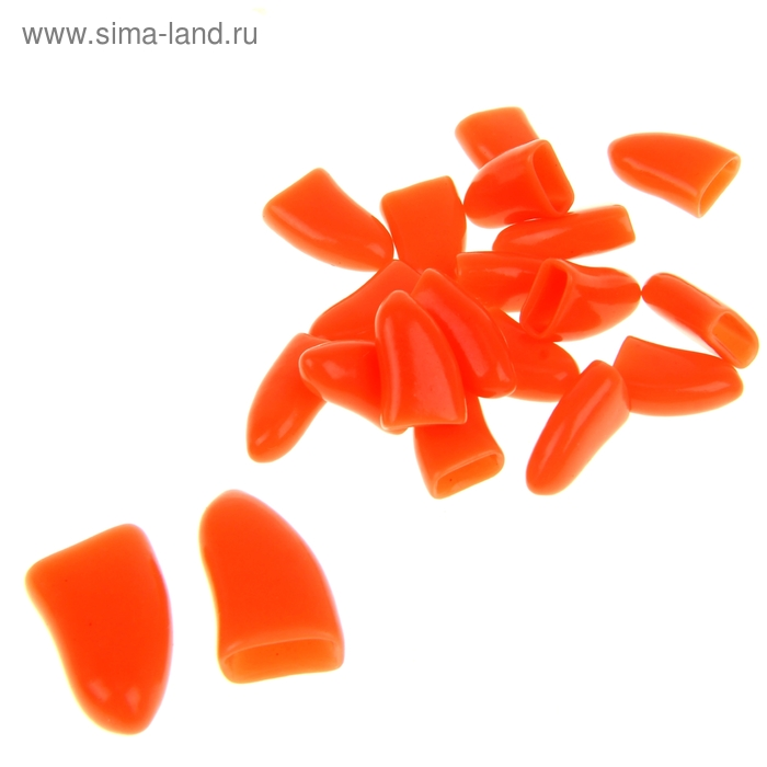 Накладные когти для собак, набор 20 шт, размер XL, оранжевые