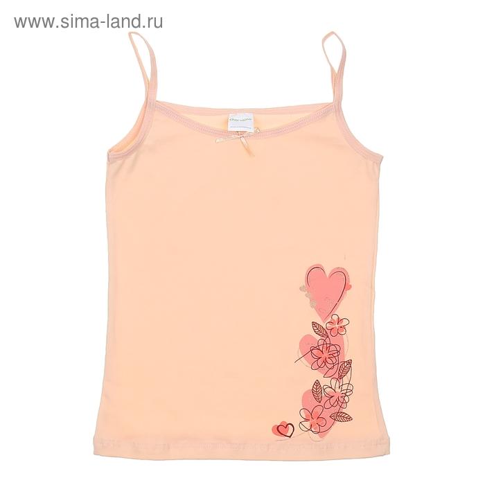 Майка для девочки, рост 152-158 см (80), цвет светло-персиковый CAJ 2123