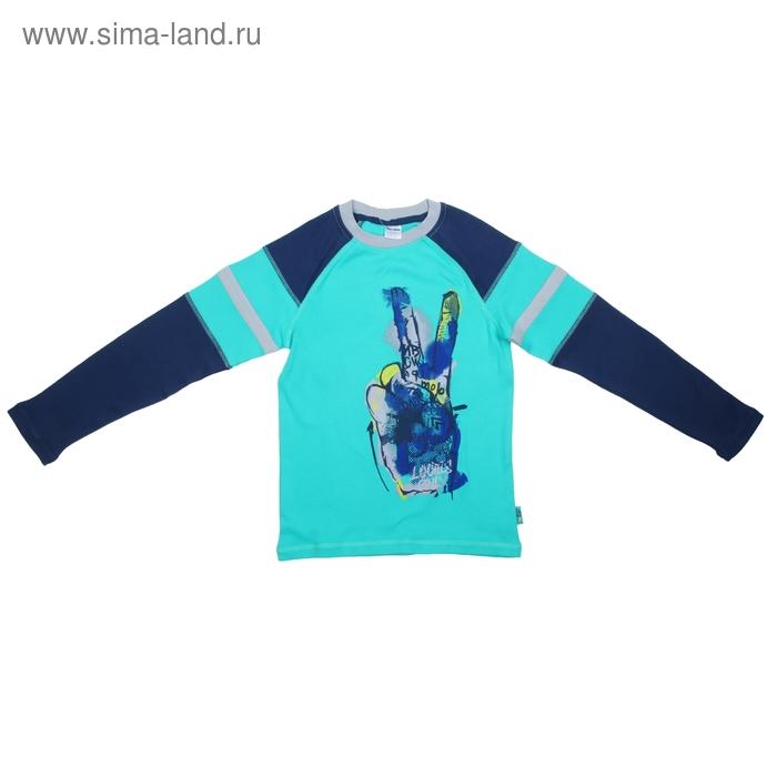 Джемпер для мальчика, рост 140 (72), цвет зеленый/джинсовый  CAJ 6772 (45)_Д
