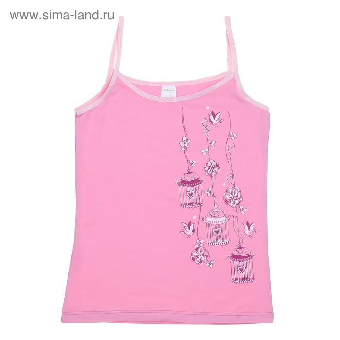 Майка для девочки, рост 140 см (72), цвет розовый CAJ 2154