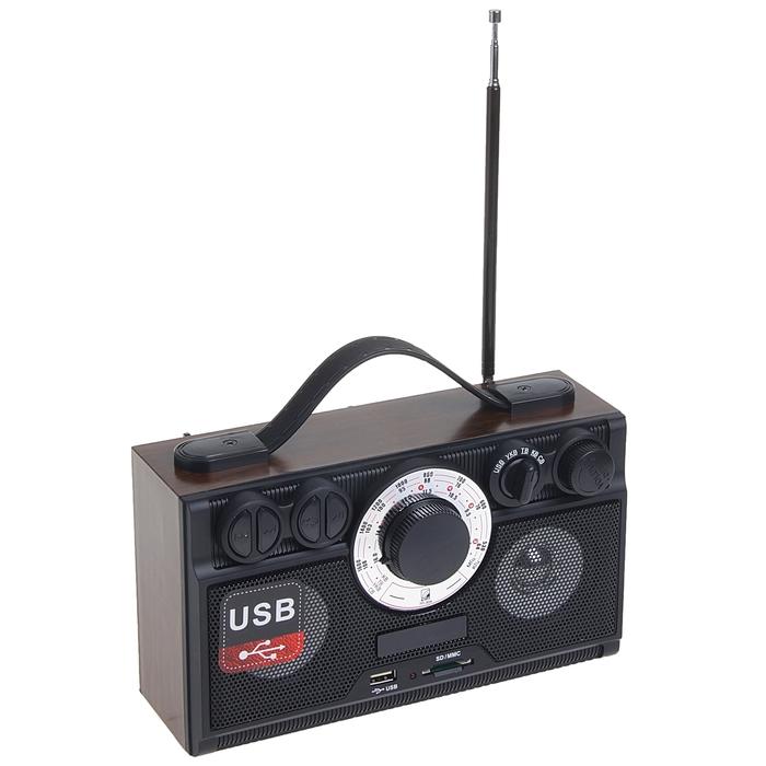 Радиоприемник БЗРП РП-304, УКВ/СВ/КВ, SD, стереозвук
