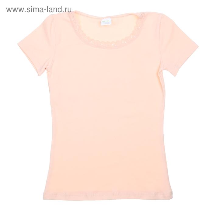Футболка для девочки, рост 146 см (76), цвет светло-персиковый  CAJ 2158_Д
