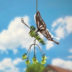 """Декор садовый на пружине """"Бабочка"""" микс"""