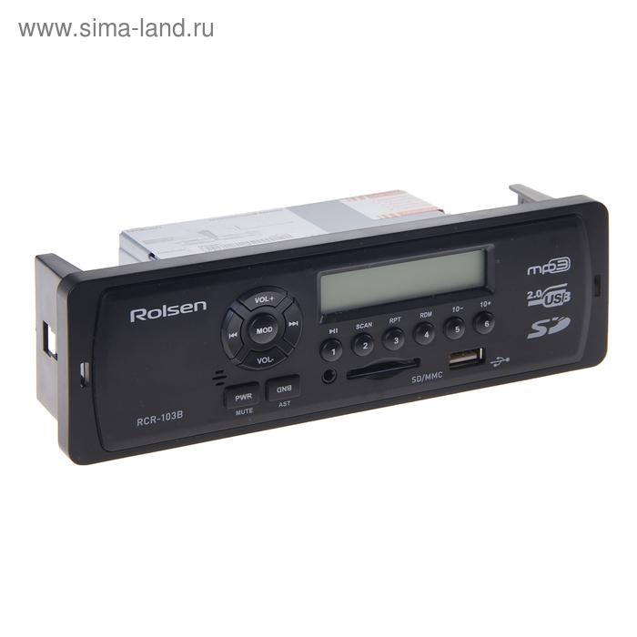 Автомагнитола Rolsen RCR-103B, USB/SD, MP3/WMA, с синей подсветкой