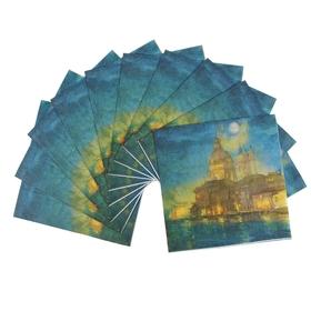 Набор салфеток для декупажа (10 штук) 'Города' Ош