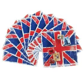 Набор салфеток для декупажа (10 штук) 'Британский' Ош