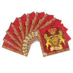 Набор салфеток для декупажа (10 штук) 'Королевский' Ош