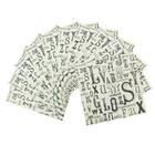 "Набор салфеток для декупажа (10 штук) ""Буквы"""