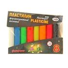 """Пластилин флуоресцентный 8 цветов 74гр """"Флюрики"""""""