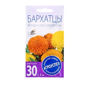 Бархатцы Купидон хризантемовидные, смесь, 0,3 г