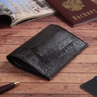 Обложка для паспорта, коричневая игуана