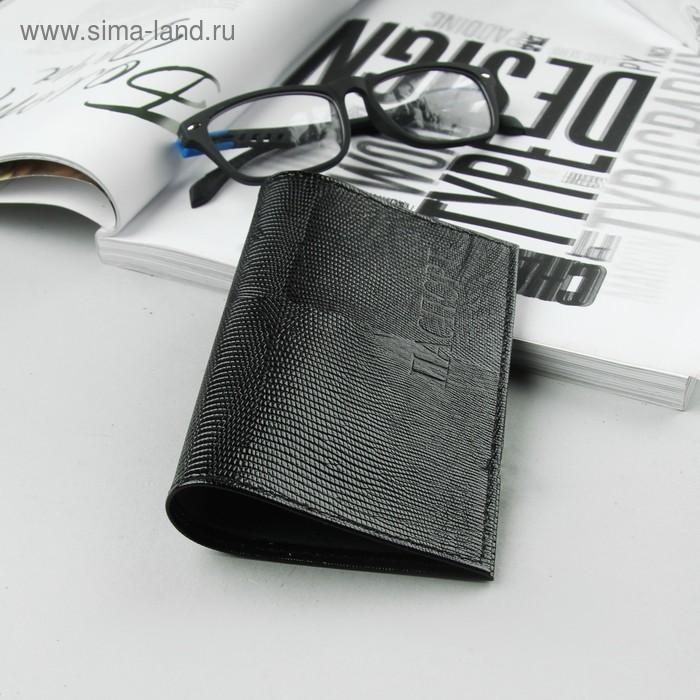 Обложка для паспорта, чёрная игуана