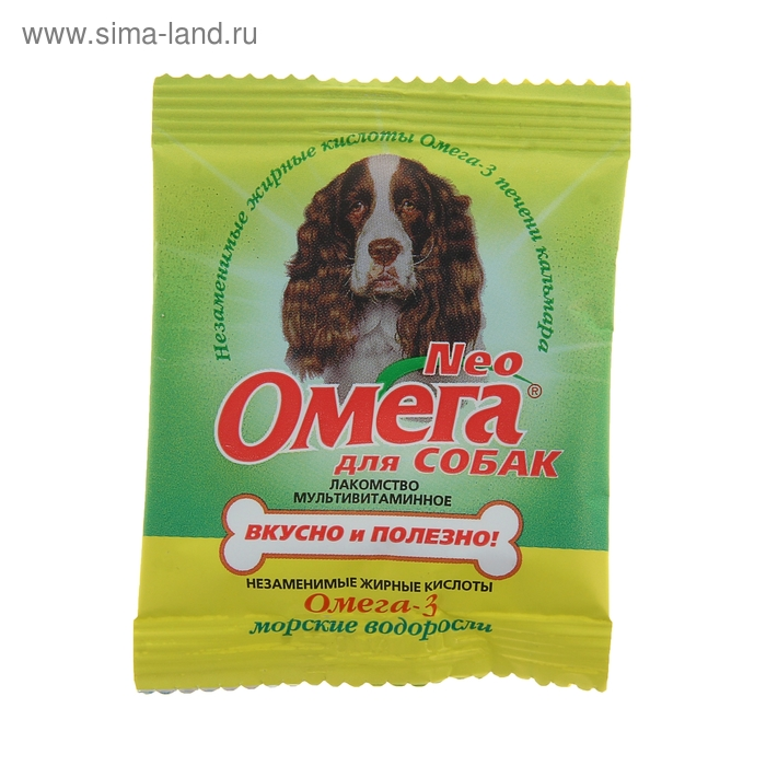 Омега Neo с морскими водорослями для собак (саше 15 таб)