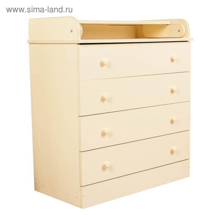 Комод детский пеленальный, 4 выдвижных ящика, цвет ваниль