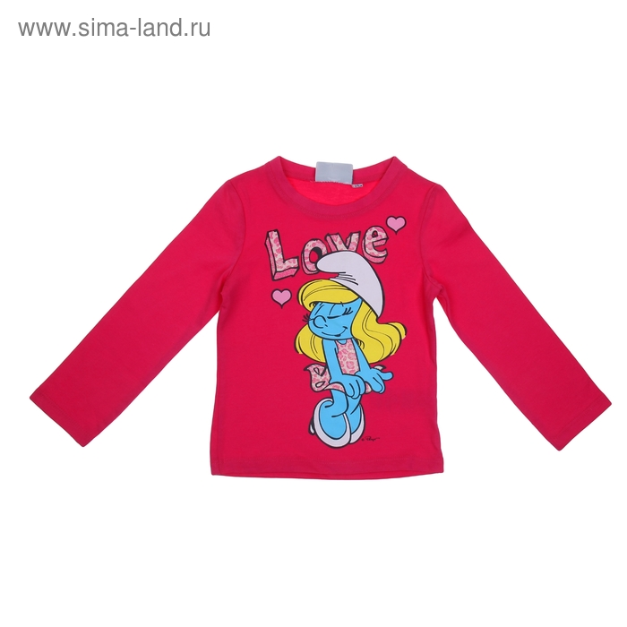 """Джемпер для девочки """"Smurfs"""". рост 116 (6 лет), цвет розовый"""